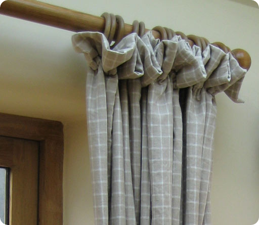 rods poles curtains make be can homesteady decorative hung to how more gathered simple curtain or on