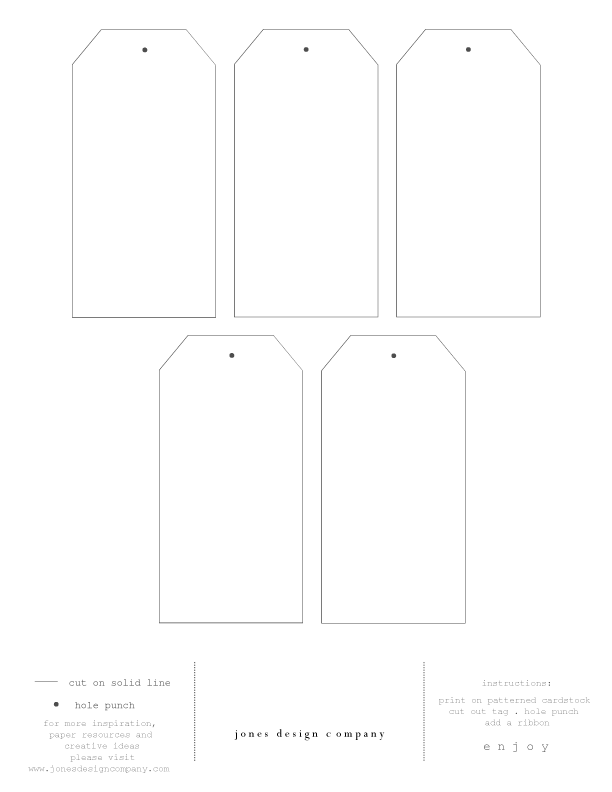 diy gift tags free template and printable paper. Black Bedroom Furniture Sets. Home Design Ideas