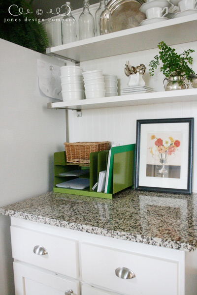 Solution to kitchen counter clutter jones design company for Kitchen countertop storage solutions