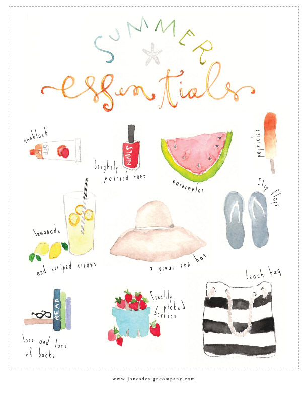 summer essentials freebie art print jones design company