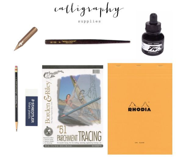 basic-calligraphy-supplies