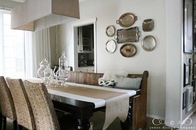 How to hang platters on the wall jones design company for What to hang on dining room walls