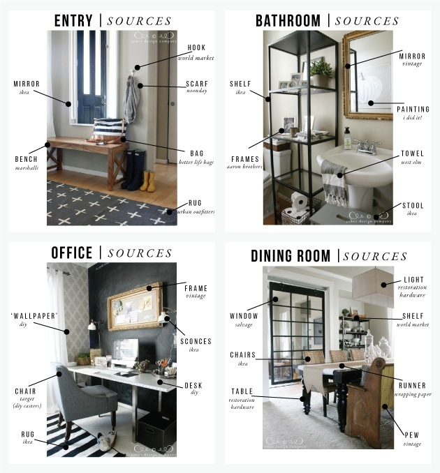 Sources For Entry Office Bath Dining Room