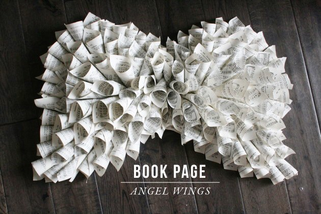 Book Page Angel Wings