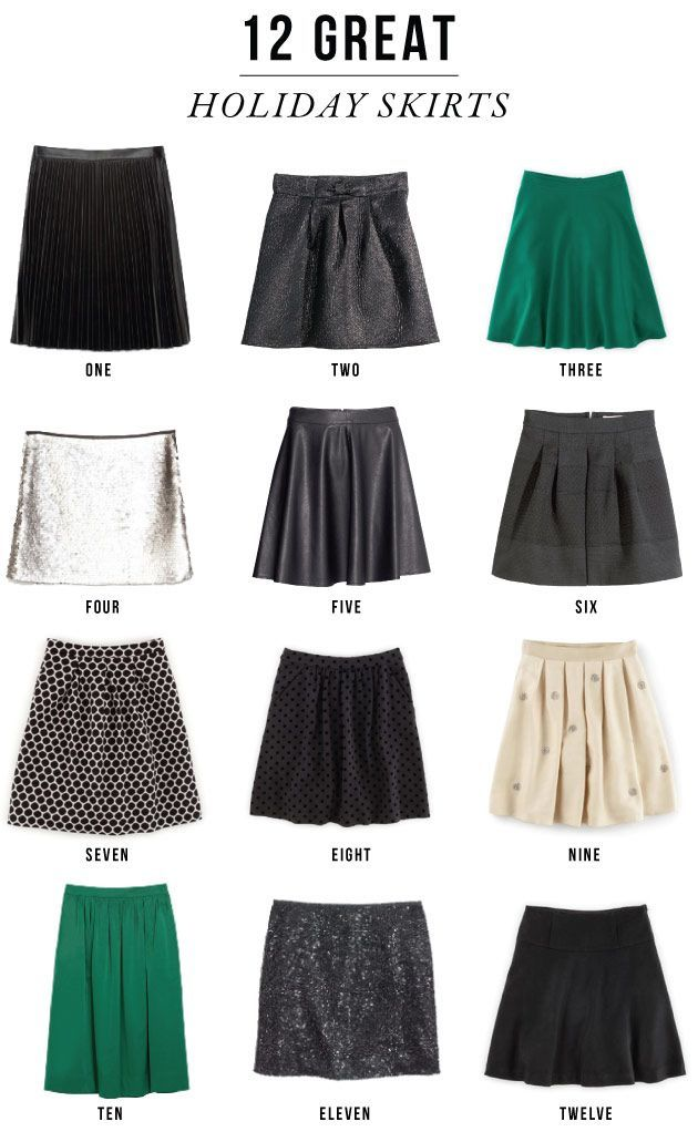 12 Great Holiday Skirts