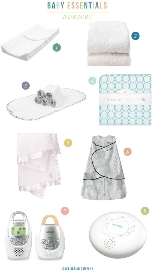 BABY ESSENTIALS: favorites for setting up your nursery / jones design company