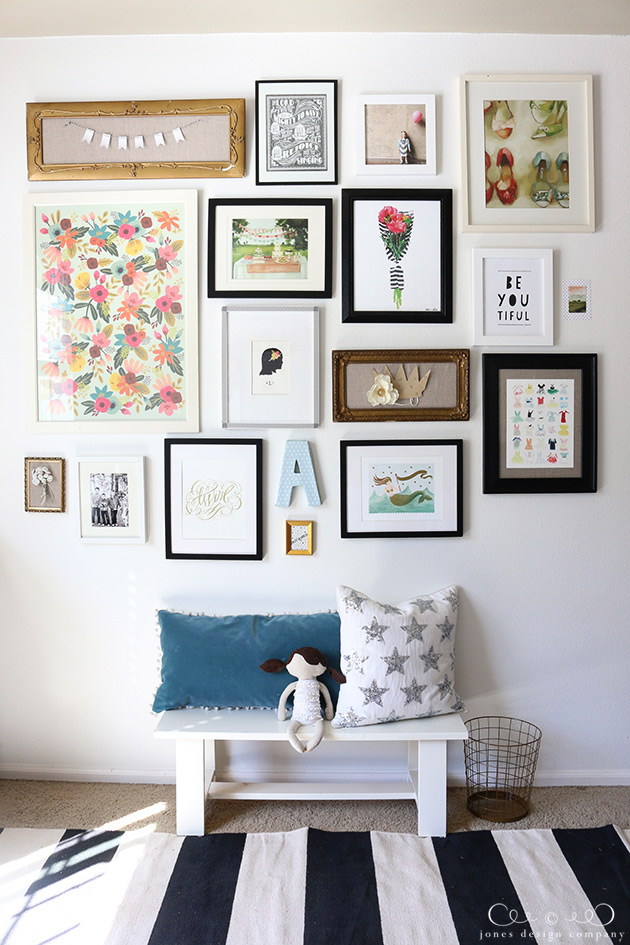 How to create a gallery wall jones design company for Picture wall layout