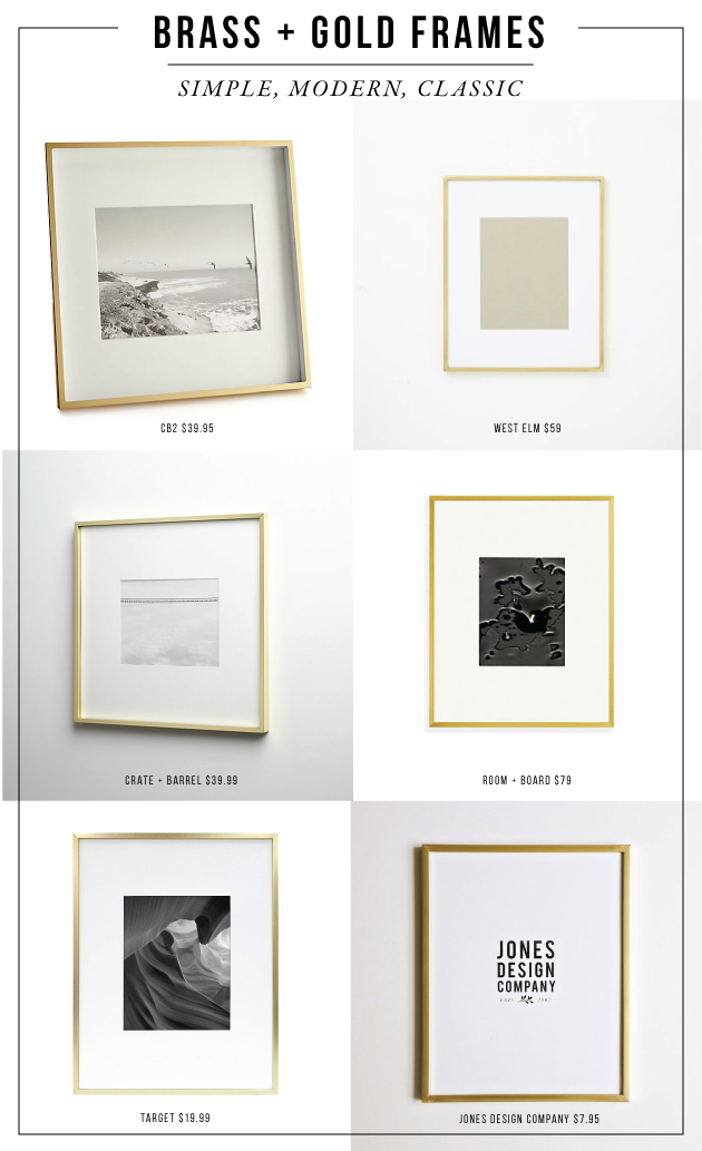 The Best Gold And Brass Picture Frames Jones Design Company