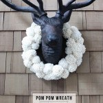 Make a pom pom wreath for under $20 / jones design company