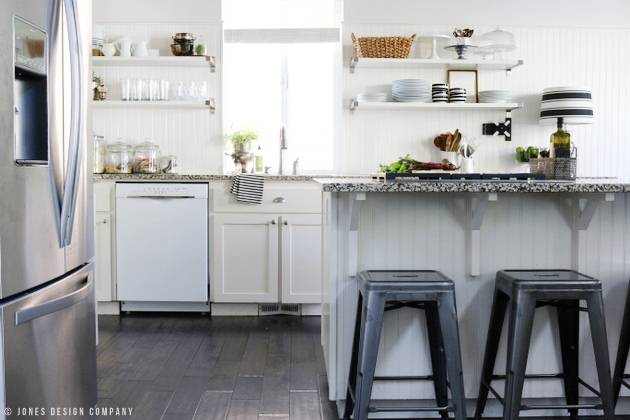 How I painted our kitchen cabinets | Jones Design Company