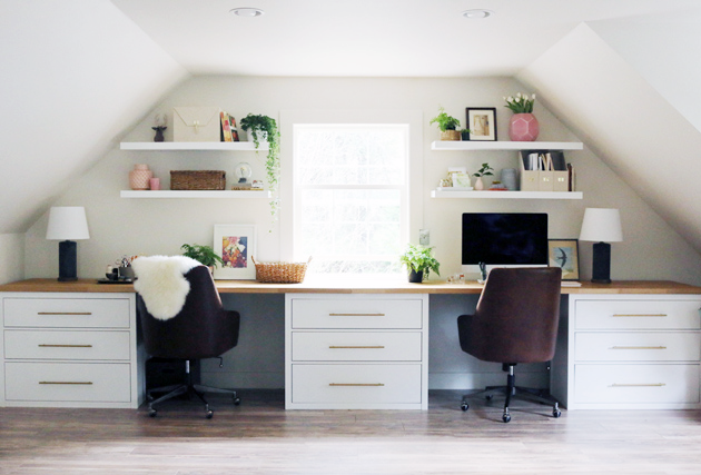 Jones Design Company Wallpaper : Inspiring ikea desk hacks you will love