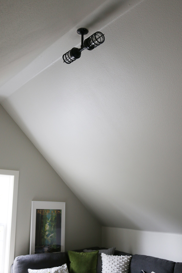 Trend In my studio I picked two semi flushmount lights in my beloved black and white as a focal for each dormer