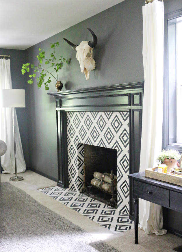 Learn how to create DIY cement tile with paint