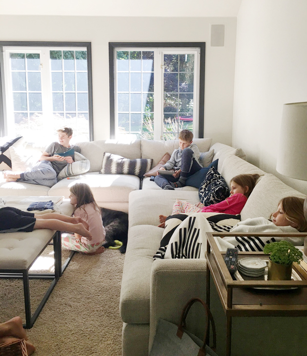 Living with kids and a light couch Jones Design Company