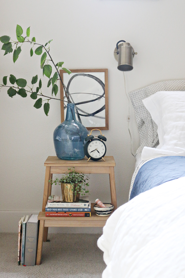 simple bedside styling