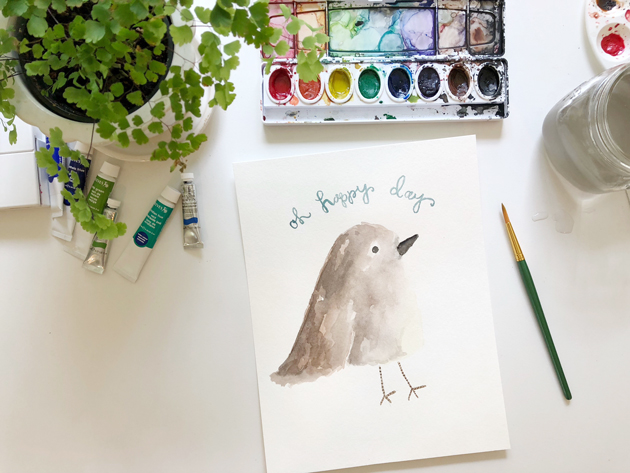 watercolor coloring page